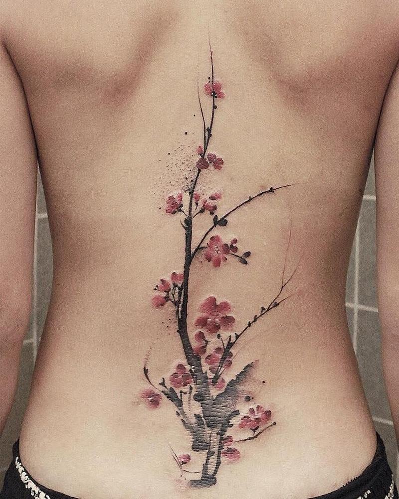 spine tattoos for girls